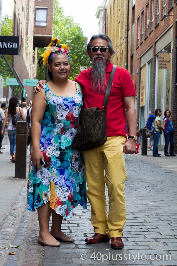 dressing in fabulous colour in London