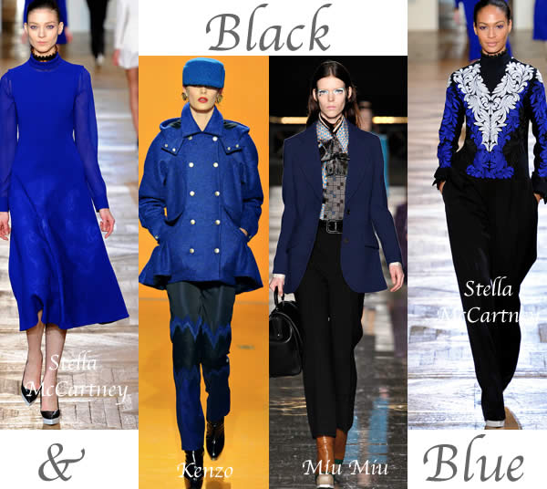 fall trends 2012 black and blue