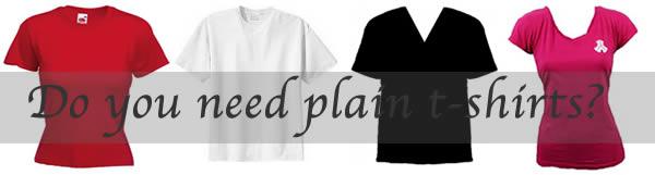 Do you need plain t-shirts