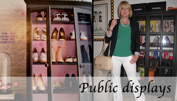 public shoe display
