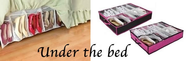 under the bed shoe storage