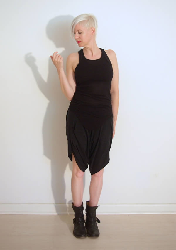 black minimal dress