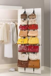 over the door hanging purse rack
