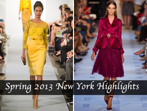 spring 2013 collections new york hightlights