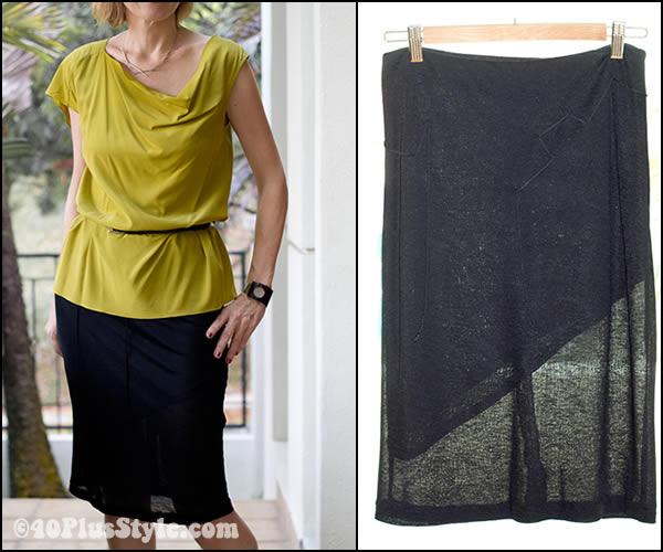 black sheer skirt detail