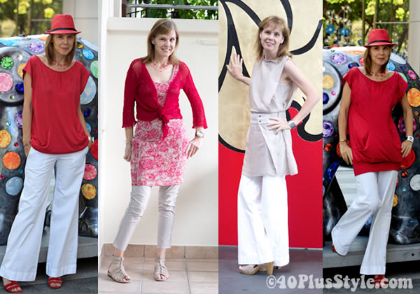 how to wear dress in a different way