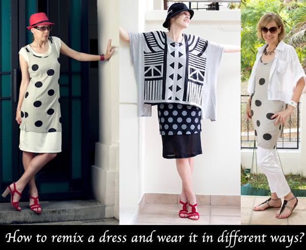 How to wear a dress different ways