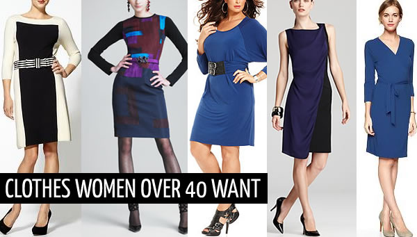 What clothes do women over 40 want