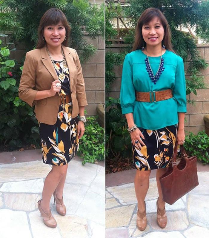 One dress two ways   40plusstyle.com