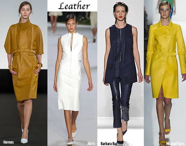spring trend leather