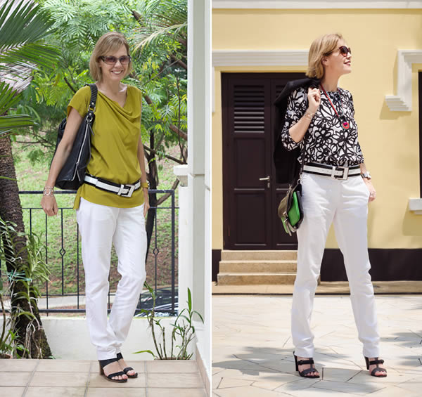 skinny white trousers | 40plusstyle.com