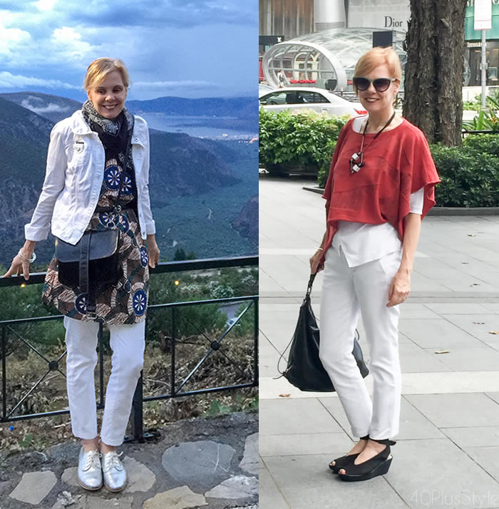 3cdf1845e9a White is a perfect base for layering too! How to wear cropped cigarette  pants