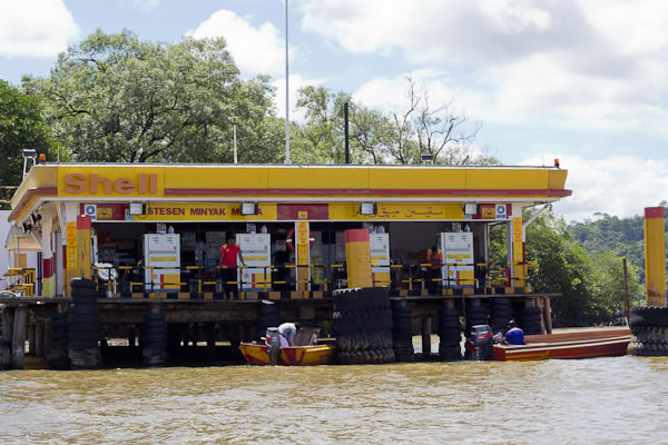 petrol station on water