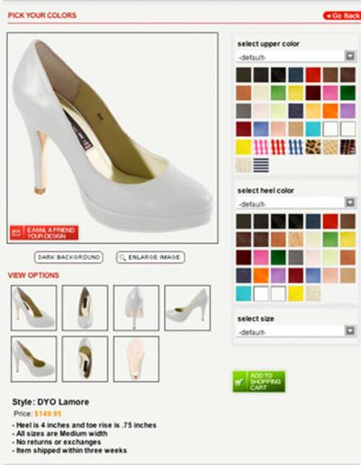 Design your own shoes | 40plusstyle.com