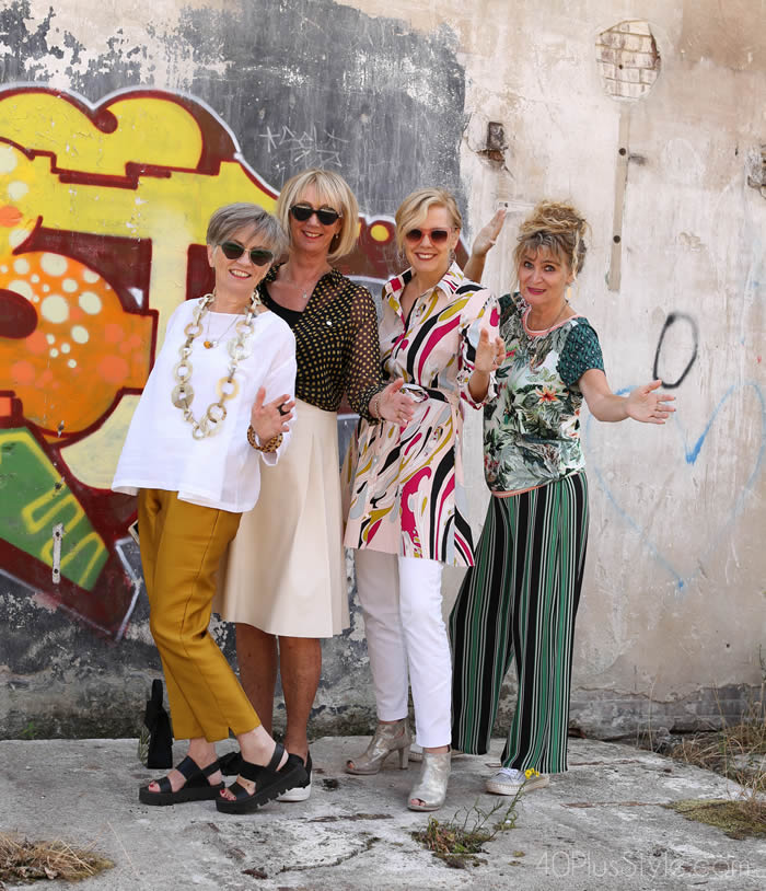 4 friends - 4 different styles   40plusstyle.com