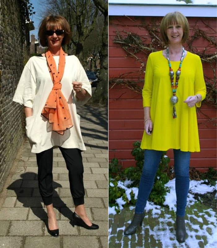 Wearing A Dress Over Trousers: Dressing Challenge Results   40plusstyle.com