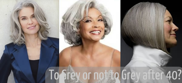 Should you go grey after 40 or dye it? | 40PlusStyle.com