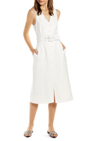 button-up midi dress   40plusstyle.com