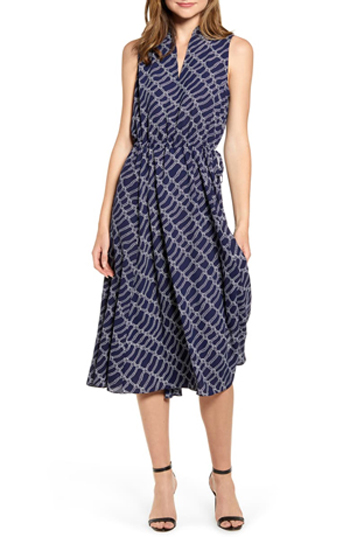 drawstring midi dress   40plusstyle.com