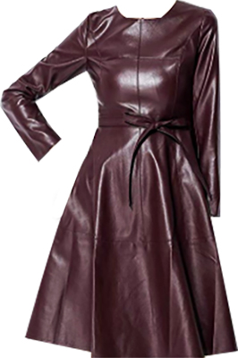 Leather Long Sleeve Dress | fashion over 40 | style | fashion | 40plusstyle.com