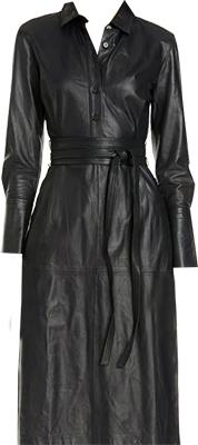 Long Sleeve Leather Shirtdress   fashion over 40   style   fashion   40plusstyle.com