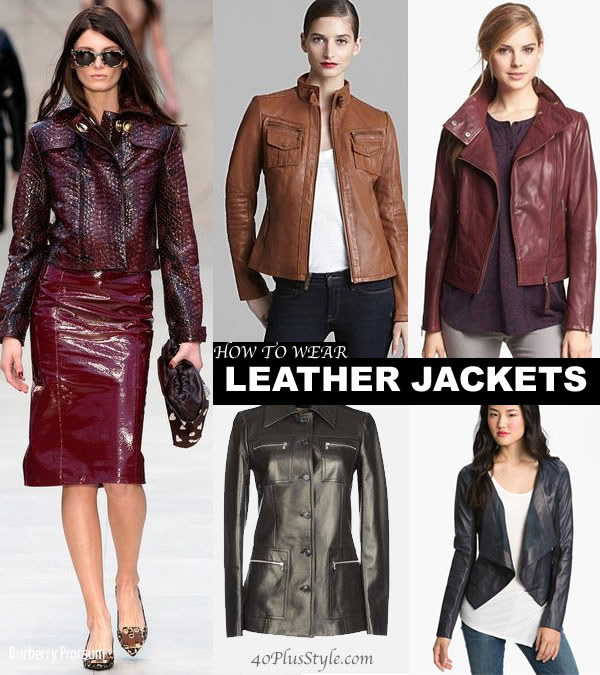 How to wear in a leather jacket