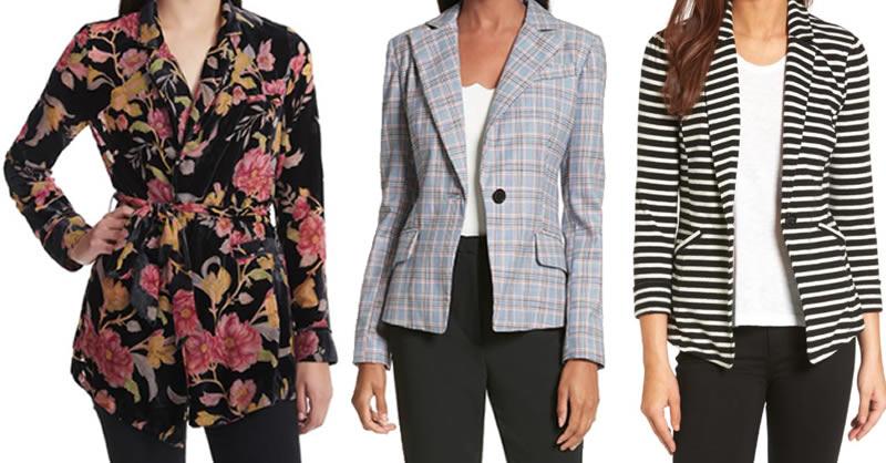 best blazers for pear shaped women | 40plusstyle.com