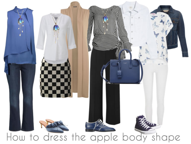How to dress the apple body shape | 40plusstyle.com