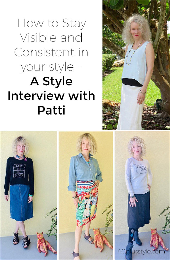 How to Stay Visible and Consistent in Your Style A Style Interview With Patti | 40plusstyle.com