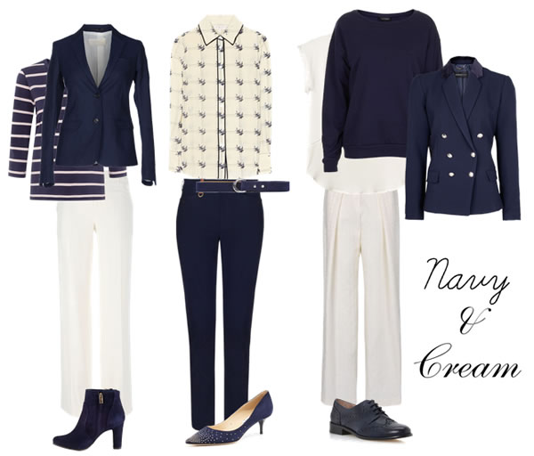 How to wear navy - navy and cream | 40plusstyle.com