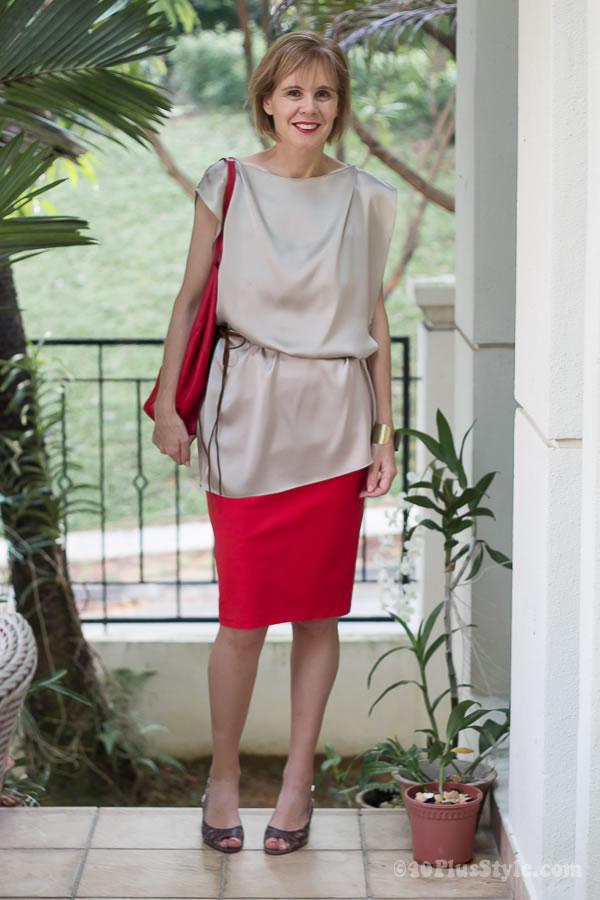 wear kitten heels over 40 | 40plusstyle.com