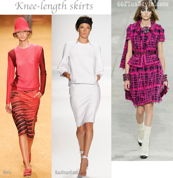 2014 summer trend Knee Length Skirts | 40PlusStyle.com