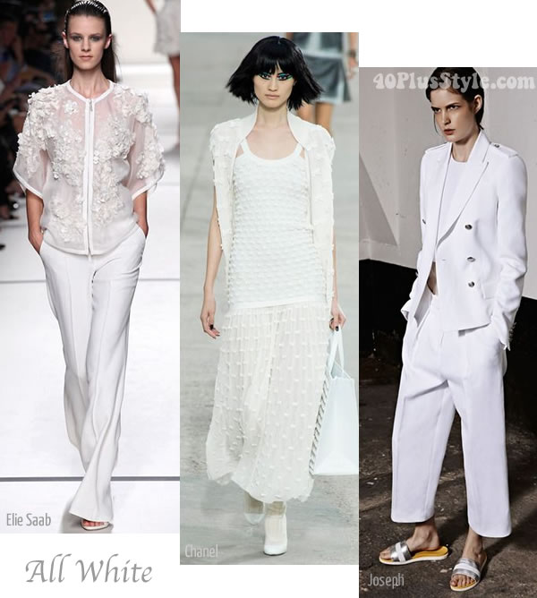 all white summer trends 2014 | 40PlusStyle.com