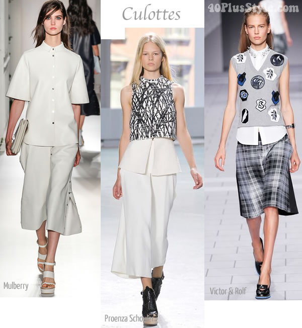 best spring trends 2014 Culottes | 40PlusStyle.com