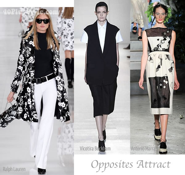 spring 2014 trend Black and White