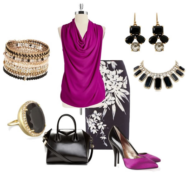 how to wear radiant orchid for work | 40PlusStyle.com