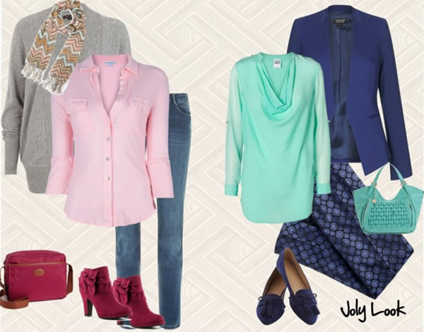 brighter pastel combinations   40PlusStyle.com