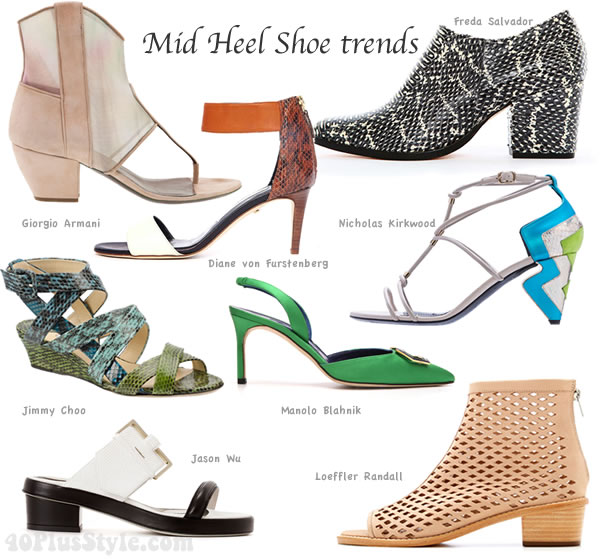 The best shoe trends for spring and summer 2014: mid heel shoes
