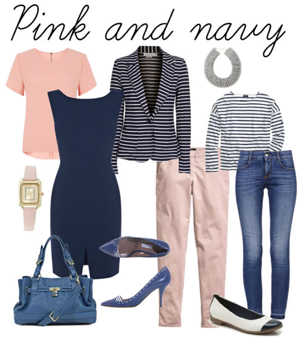 Combining pink with navy   40PlusStyle.com