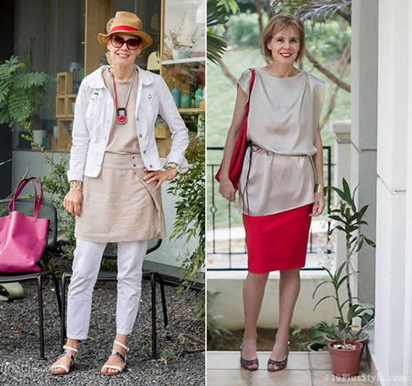 wearing pastels in style   combine with brighter accessories   40PlusStyle.com