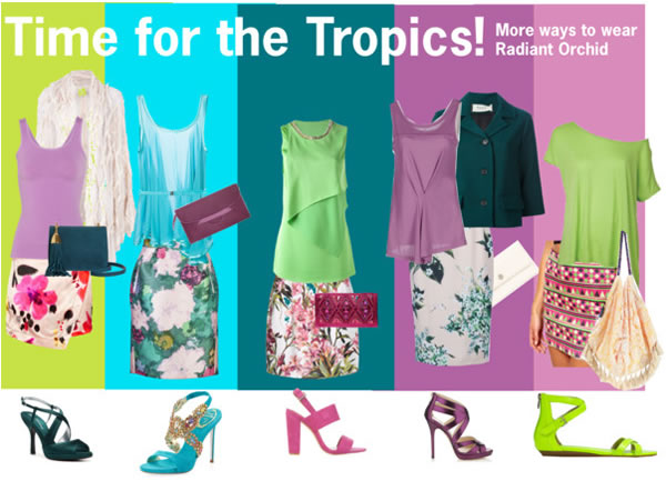 how to wear radiant orchid in the tropics! | 40PlusStyle.com