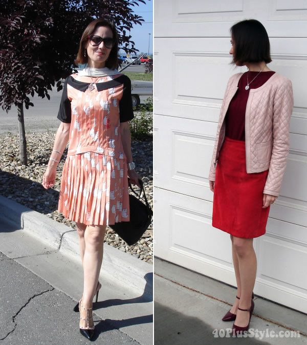 Combining pink with red   40PlusStyle.com