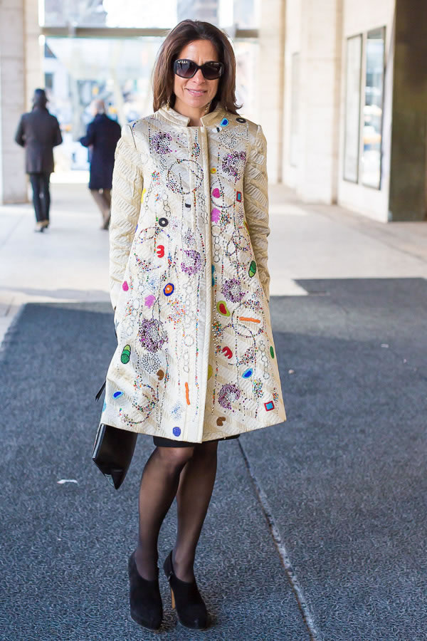 11 best streetstyle looks for women over 40 during New York Fashion Week featuring prints | 40PlusStyle.com