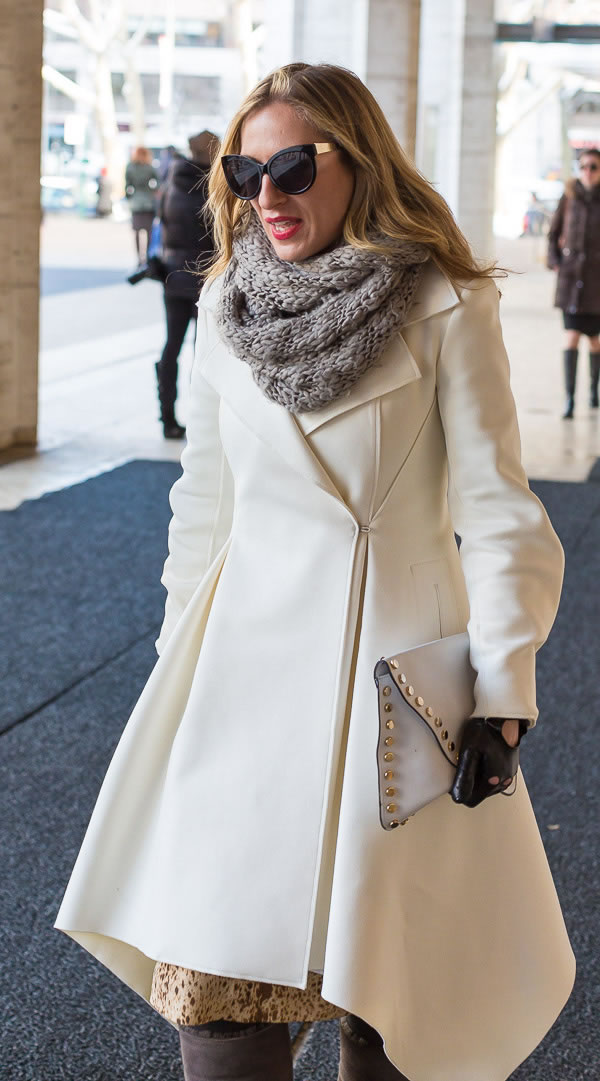 favorite neutral coats as worn by 40+ women during New York Fashion Week | 40PlusStyle.com