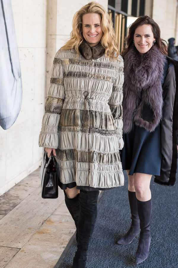 Rocking boots during New York Fashion week | 40plusstyle.com