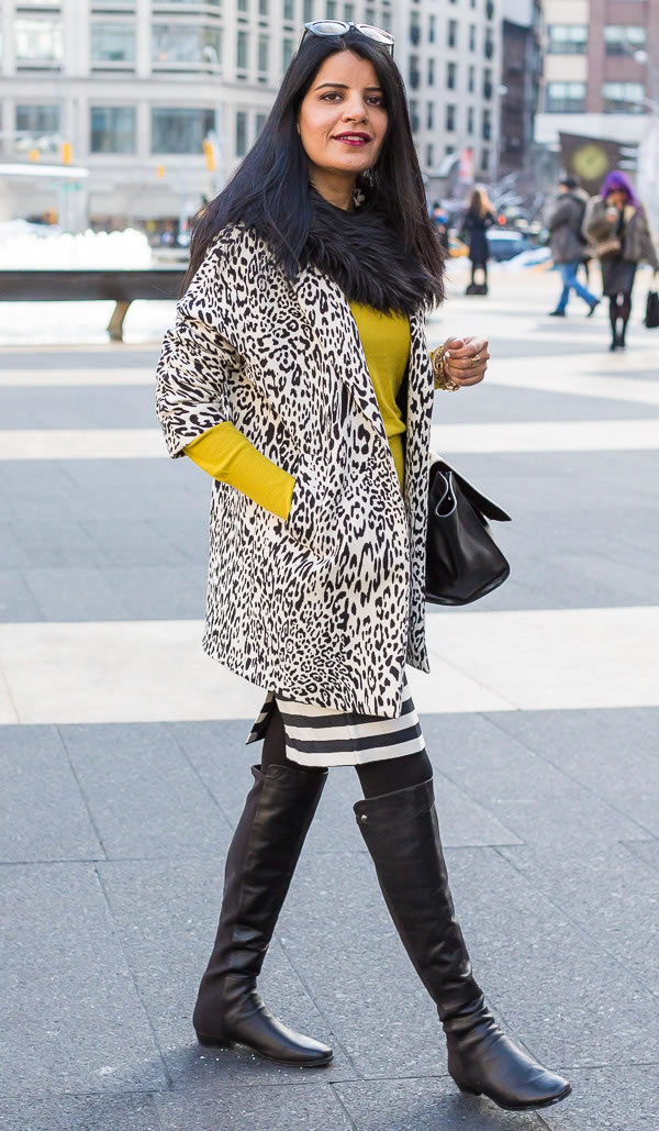 best animal print looks by women over 40