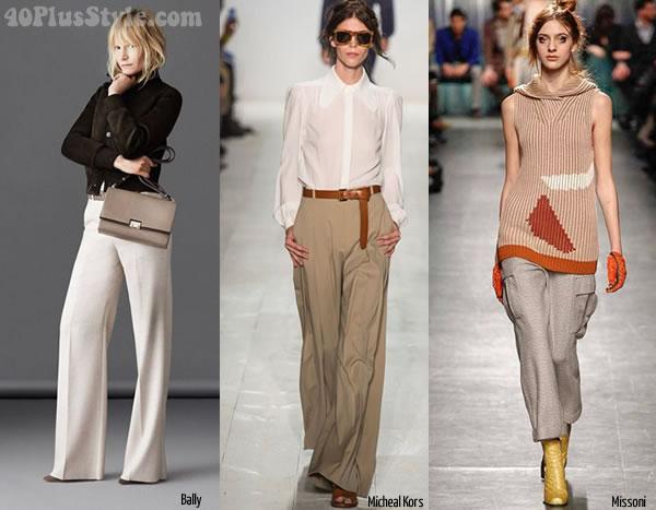 Ideas for wearing beige as a bottom | 40plusstyle.com