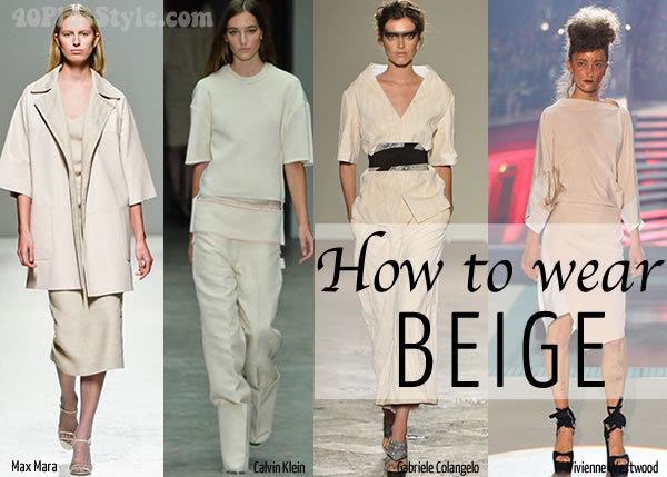 How to wear beige over 40 | 40plusstyle.com