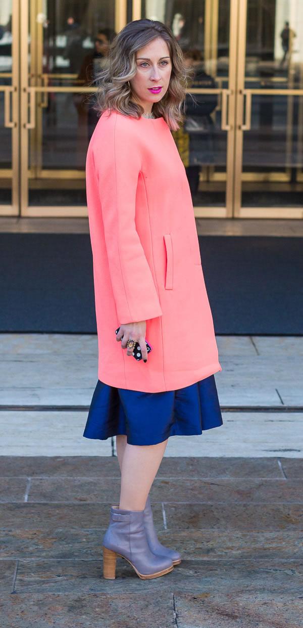 pink coat | 40plusstyle.com