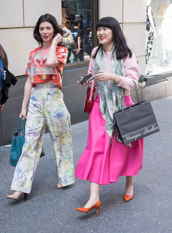 two very colorful outfits | 40plusstyle.com